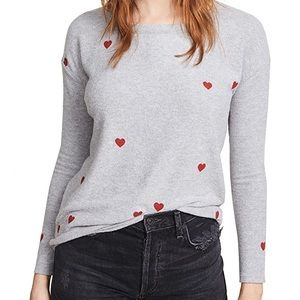NWT Chaser Tiny Heart Toss Pullover